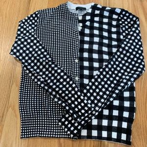Jcrew , new without tags , checkered cardigan .